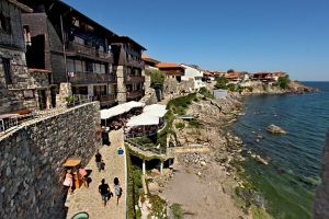 Bulgaria-Sozopol-Old-Town-fortress-walls-and-old-houses